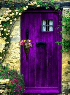 magical purple door!