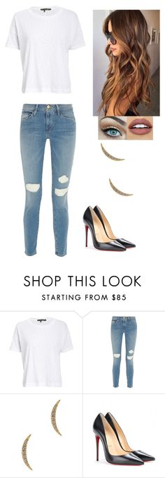 """Vanity Fair 2016"" by teaand-kisses ❤ liked on Polyvore featuring NYX, rag & bone/JEAN, Frame Denim, Elizabeth and James and Christian Louboutin"