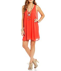 GB Caped Dress #Dillards poly red szXS 32.40