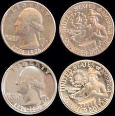 1976 - BiCentennial quarters... I always hoard these little drummer boys... the year I was born