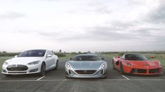 Watch Rimac's Concept One roast a LaFerrari and Tesla Model S in a drag race…