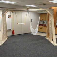 sensory center, sensory gym. I'd like to try to make one of these in the playroom.