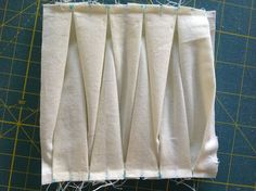 Block 1: twisted pleats – Textured 4-patch quilt | Sewn Up