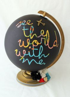hello, Wonderful - 9 CREATIVE GLOBES TO MAKE FOR EARTH DAY