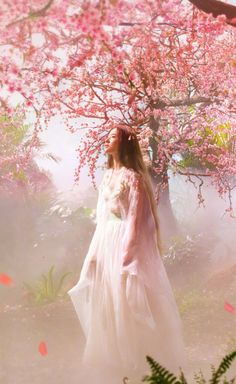 liu yifei once upon a time Hanfu, Cherry Blooms, Peach Blossoms, China Girl, Beautiful Girl Image, Chinese Culture, Mori Girl, Traditional Outfits, Korean Girl