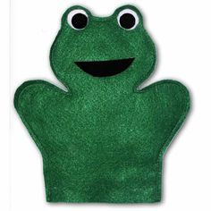 Frog hand puppet sewing pattern. Sew your own Animal hand puppets with this…