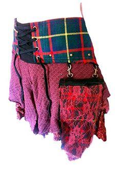 Terrapin Trading Ltd Genuine Scottish Tartan Designer Funky Kilt Steam Punk Psytrance Skirt red (medium-large) Punk Costume, Costumes, Punk Mohawk, Terrapin, Punk Outfits, Red Media, Scottish Tartans, Women's Skirts, Jean Skirt