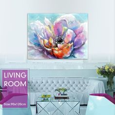 Find More Painting & Calligraphy Information about Magnolia watercolor painting popular colors  Modern Oil Floral Paintings  canvas wall art  home decor  living room free shipping,High Quality painting gun,China painting colors for living room Suppliers, Cheap decorative art painting from WHAT ART on Aliexpress.com