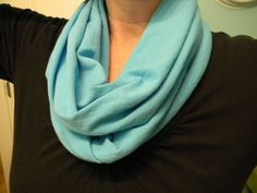 How to make infinity scarf out of old t-shirts.