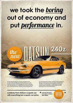 design, Future, germany, Illustration, Inspiration, posters, print, Retro,Datsun 240z