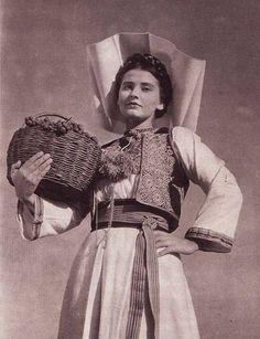 Croatian woman from Konavle.