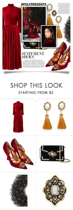"""#PolyPresents: Statement Shoes"" by color-dli on Polyvore featuring мода, Dolce&Gabbana и Gucci"