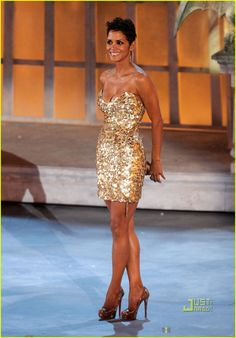halle berry - gold sequins