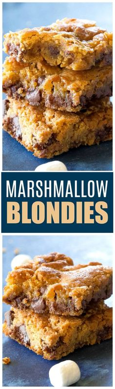 Marshmallow Blondies