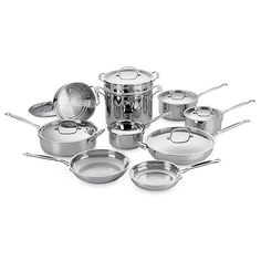 Cuisinart Chef's Stainless 17-Piece Cookware Set