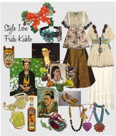 """Style Icon Frida Kahlo"" by susanelizabethcusack on Polyvore"