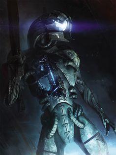 Mass Effect Concept Art // Legion