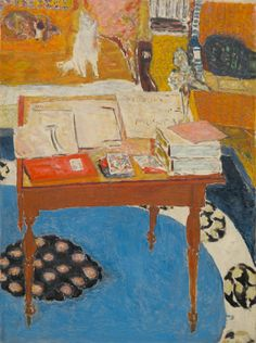 pierre bonnard(1867-1947), work table 1926/1937. oil on canvas, 121.9 x 91.4 cm. national gallery of art, washington d.c., usa