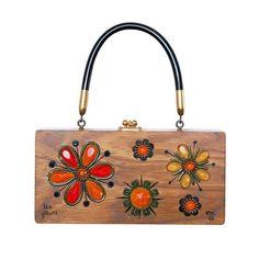 "Enid Collins of Texas ""les fleurs"" box bag. Love the oranges! #findingENIDwithLOVE #enidcollinsoftexas #enidcollins #collinsoftexas #lesfleurs #orange #flowers #French #1960s #vintagebag #vintagepurse #vintagestyle #fashiondesigner #fashionart #anthropology #art"
