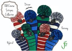 NEW! Go Retro with these striped knit #golf club head covers | Golf4Her
