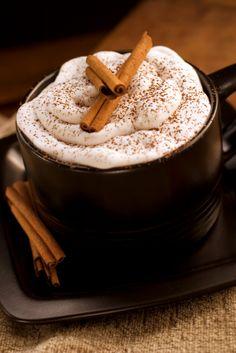 Cinnamon Almond Cappuccino: yum, spicy and vegan.