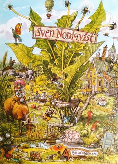 Sven Nordqvist Eine Bilderreise 2016 Illustrators, City Illustration, Drawing And Illustration, Storybook Art, Cute Pictures, Illustration Art, Pictures, Graphics Inspiration, Beautiful Pictures