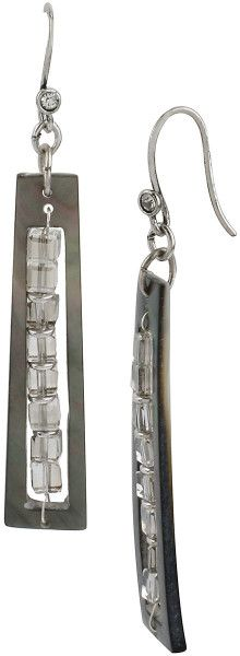 Kenneth Cole Geometric Linear Faceted Bead Drop Earrings absolutely stunning!!