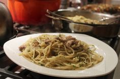 Pasta with Roast Chicken, Currants and Pine Nuts* (*Unless You Can't Afford Them).