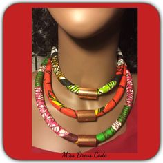 Ankara African Inspired Fabric Necklaces | eBay