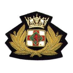 Army Officer's cap badges are gold and silver bullion wire embroidered. Hud Badges make Navy Cap Badges, Crown and Star badges in sew on variety and with Velcro backing. http://hudbadges.com/details/cap_badge