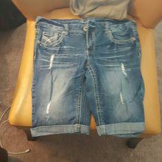 Shorts Great lengh if you don't want short shorts! Worn once! Shorts Jean Shorts