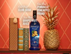 The Pinnacle® Book Club Club  1 part Pinnacle® Pineapple Vodka   2 parts grapefruit juice  1 part club soda    Serve over ice and cheers to your character crush.