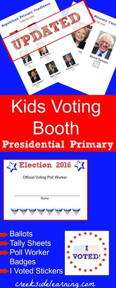 kids voting booth presidential primary updated