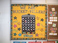 """Inspired by the bucket filling book, this is a way to track kindness in your room.  Kids place a """"warm fuzzy"""" in their pocket when somebody fills them with kindness."""