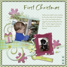 Layout created by JeannieK using Merry by Wendy Tunison Designs
