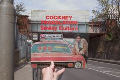 Smiley Culture, Cockney Translation (Fashion Records, 1984), rephotographed on Plough Road, London SW11, 32 years later. Photos © 2016 Alex Bartsch, courtesy One Love Books