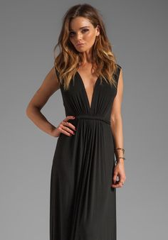 RACHEL PALLY Long Sleeveless Caftan in Black at Revolve Clothing