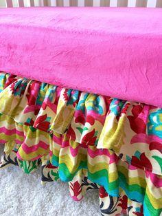 Ruffled Crib Skirt Crib Dust Ruffle Crib by RitzyBabyOriginal