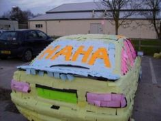 Maybe I should do this to your @Alissa Garcia truck on your last day of high school!