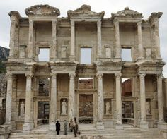 """This library is one of the most beautiful structures in Ephesus. It was built in 117 A.D. It was a monumental tomb for Gaius Julius Celsus Polemaeanus, the governor of the province of Asia; from his son Galius Julius Aquila. One of the great places to visit in Turkey is """"Ephesus"""". This ancient city was used to be the one of the most important commercial and religious center of early Christianity."""