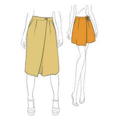 Patron de couture de jupe-culotte à plis Muscade pdf à télécharger de Christelle Beneytout culotte pattern à coudre à la machine à coudre Christelle Coud
