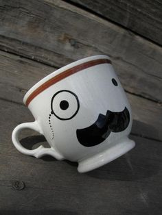 Eyeglass Mustache Man #mug #coffee