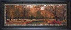 "Title: Weeping Willow Retail Price: $163.00 Artist: Romanello, Diane Outside Dimension: 18x42 Frame: 3"" black Product Code: P40469A"