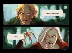 Queen of Shadows. Aelin and Manon. This was a great scene