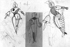 By Schlemmer - Sketch of 'Triadic Ballet'