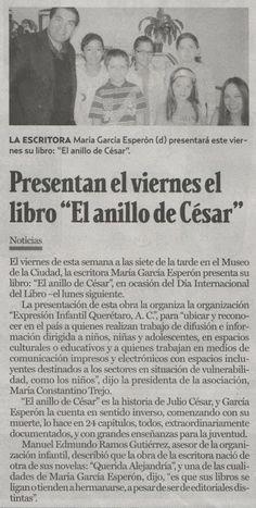 El anillo de César: El anillo de César en Noticias de Querétaro