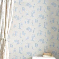 Promenade Wallpaper, Wedgewood Blue – IN-SPACES
