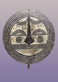 "African Bwa Sun Mask 39 1/2"" Tall including 3"" Handle Burkina Fasso $645"