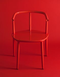 Chair for the Five furniture collection. Made by Japanese craftsmen in solid wood. By Claesson Koivisto Rune for Meetee. Chair Design, Furniture Design, Furniture Ideas, Aesthetic Colors, Aesthetic Objects, Red Interiors, Solid Wood Furniture, Shades Of Red, Furniture Collection