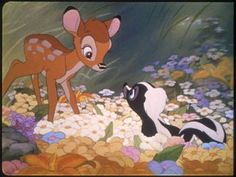 Bambi and Flower the skunk